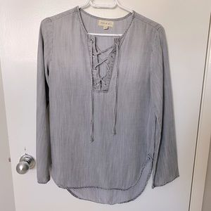 Anthro / Cloth & Stone chambray long sleeve top